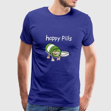 Pug Happy Pills - Men's Premium T-Shirt