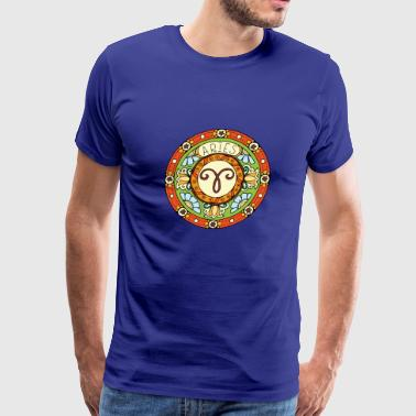 Zodiac sign - Aries / Ram - Men's Premium T-Shirt