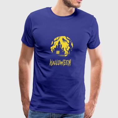 No Place To Hide Halloween Horror Castle - Men's Premium T-Shirt