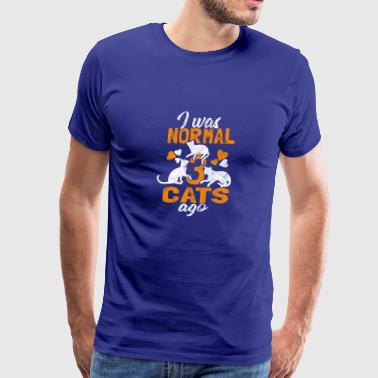 I was normal 3 cats ago - Shirt for cat lover - Men's Premium T-Shirt