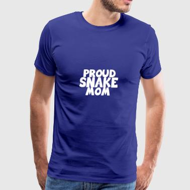 proud snake mom white - Men's Premium T-Shirt