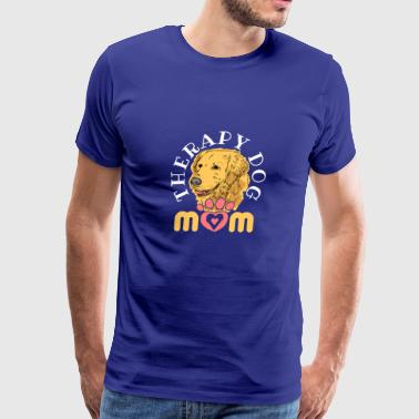 Therapy Dog Mom - Men's Premium T-Shirt