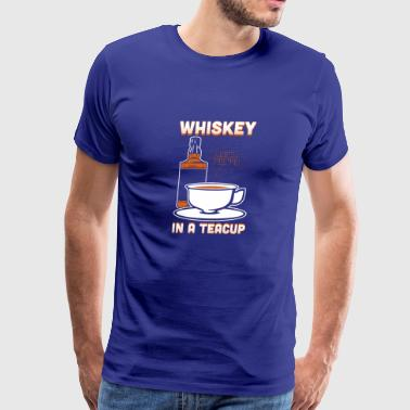 Whiskey In A Teacup - Men's Premium T-Shirt