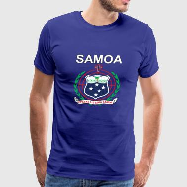 Samoa National Coat of Arms Premium Design - Men's Premium T-Shirt