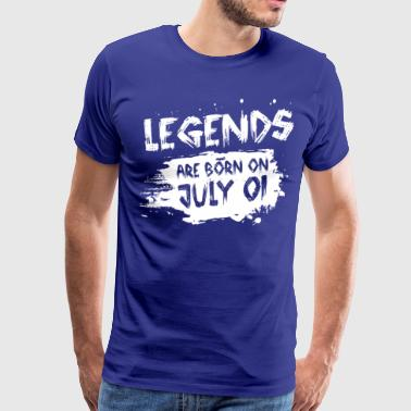 Legends Are Born In July Legends are born on July 01 - Men's Premium T-Shirt