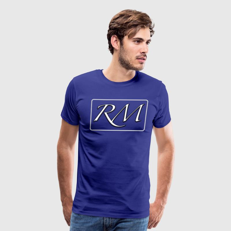 3D White/Blue - Men's Premium T-Shirt