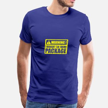 Package Beer Alcohol Party T-Shirt Warning - Men's Premium T-Shirt