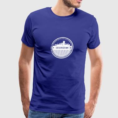 Lexington Kentucky Skyline - Men's Premium T-Shirt