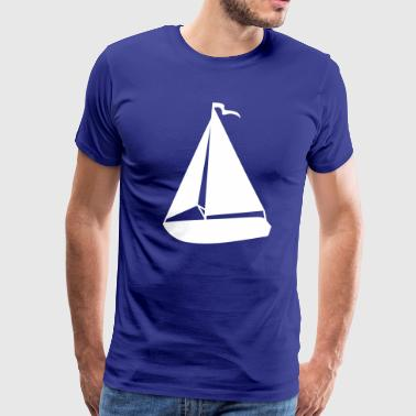 Sailboat Racing Sailboat Art Silhouette - Men's Premium T-Shirt