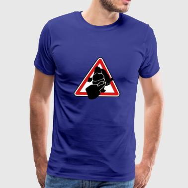 Roadsign Troll - Men's Premium T-Shirt