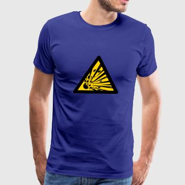 Explosives Hazard Symbol - Explosives (2-color) - Men's Premium T-Shirt