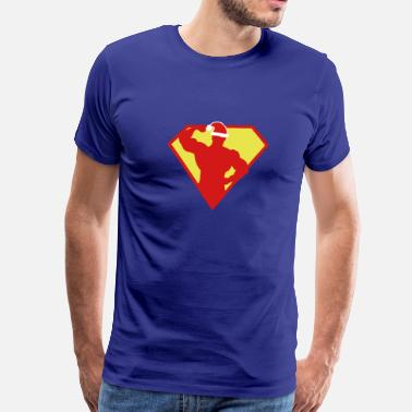 Xmas Super Fit Man - Men's Premium T-Shirt