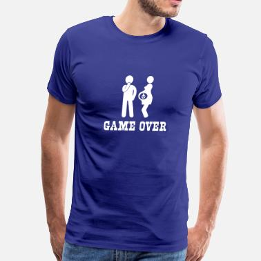 Pregnant Pregnant. Game Over - Men's Premium T-Shirt