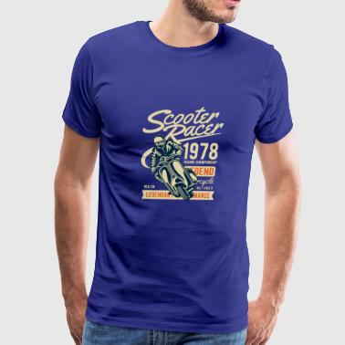 Scooter Racer - Men's Premium T-Shirt