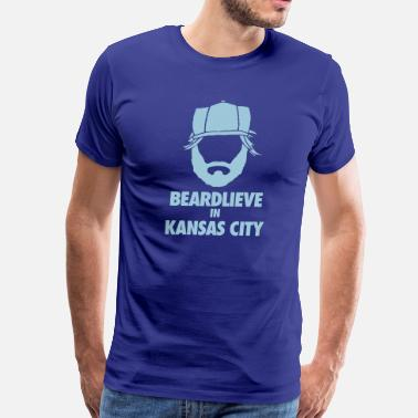 Kc Royals KC Beard - Men's Premium T-Shirt
