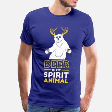 Spirit Animal Beer is my spirit Animal - Men's Premium T-Shirt