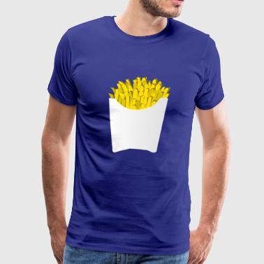 french fries pommes frites fastfood fast food14 - Men's Premium T-Shirt