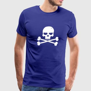 Skull with Crossbones Beneith - Men's Premium T-Shirt