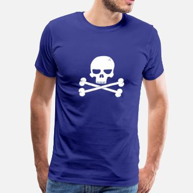Kaper Skull with Crossbones Beneith - Men's Premium T-Shirt