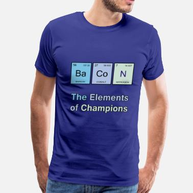 Champion Satire Bacon, The Elements of Champions - Men's Premium T-Shirt