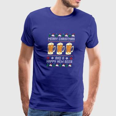 Merry Christmas And A Happy New Beer Sweater - Men's Premium T-Shirt