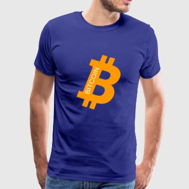 Bitcoin Coin Logo Symbol Crypto Currency Coins - Men's Premium T-Shirt