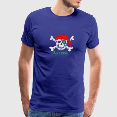 Irish Pirate Arrrish Dark - Men's Premium T-Shirt