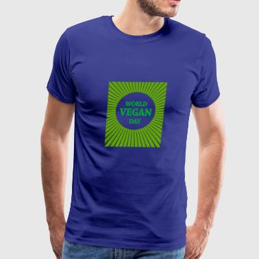 Protect Earth World Vegan Day Gift Idea Birthday Christmas Vegan - Men's Premium T-Shirt