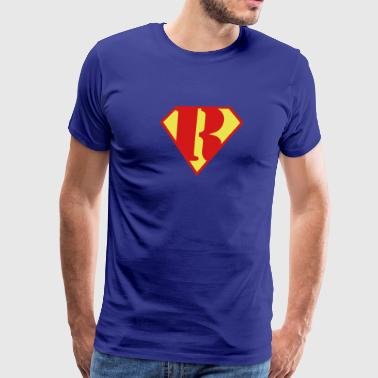 Super Muscle Man Body Builder - R - Men's Premium T-Shirt