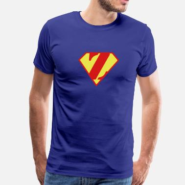 Super Muscle Man Body Builder - Z - Men's Premium T-Shirt