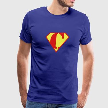 Super Muscle Man Body Builder - C - Men's Premium T-Shirt