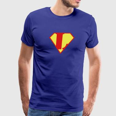 Super L Super Muscle Man Body Builder - L - Men's Premium T-Shirt