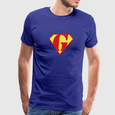 Lois Super Muscle Man Body Builder - G - Men's Premium T-Shirt