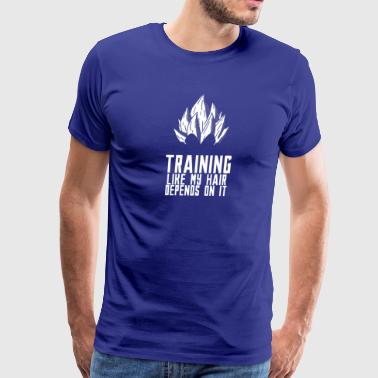 Training For My Hair - Pride - Men's Premium T-Shirt