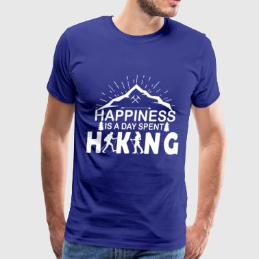 HAPPINESS IS A DAY SPENT HIKING - Men's Premium T-Shirt