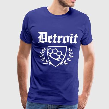 DETROIT - Brass Knuckle Crest - Men's Premium T-Shirt