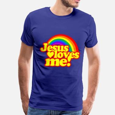 3d20d5c01593 Cool Christian Jesus Loves Me - Men's Premium T-Shirt
