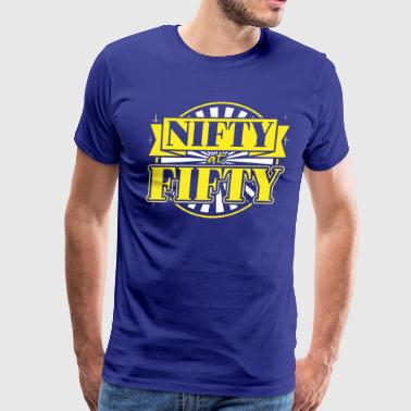 Nifty at Fifty 50th Birthday - Men's Premium T-Shirt