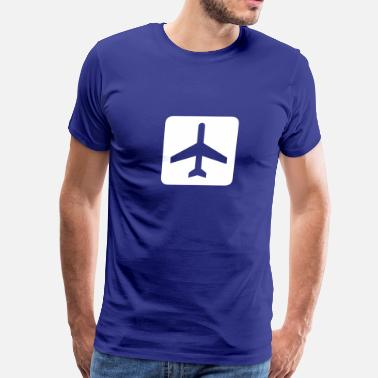 Airplane Airport Fixed-wing aircraft - airplane - airport - Men's Premium T-Shirt