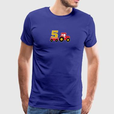 5 years old and truck - Men's Premium T-Shirt