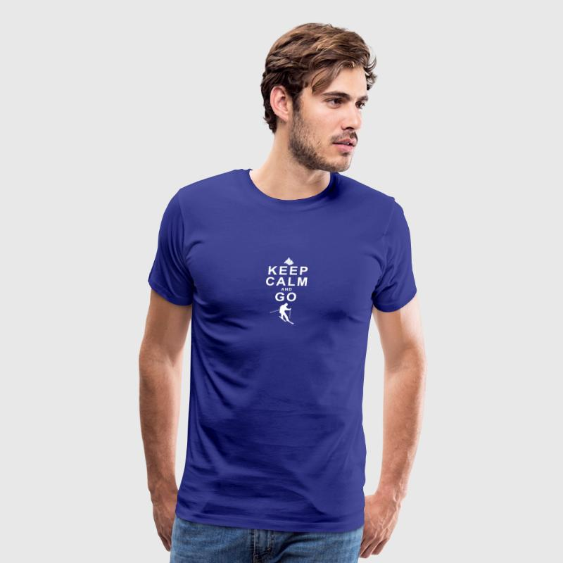 Keep Calm and go skiing - Men's Premium T-Shirt