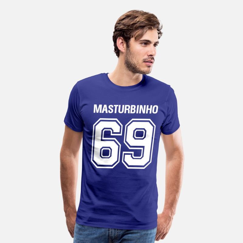 Blasen T-Shirts - 69 MASTURBINHO - Men's Premium T-Shirt royal blue