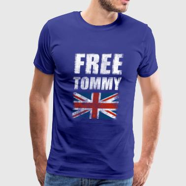 Free Tommy Robinson Free Speech UK Justice Protest - Men's Premium T-Shirt