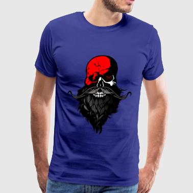 Bald And Beard hipster bald bearded skull beard mustache - Men's Premium T-Shirt