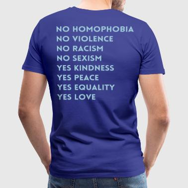 No Homophobia - Men's Premium T-Shirt