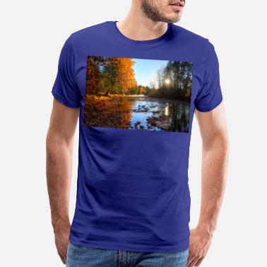 Adams River Mists R Haig Brown Park Photo Print 10 - Men's Premium T-Shirt