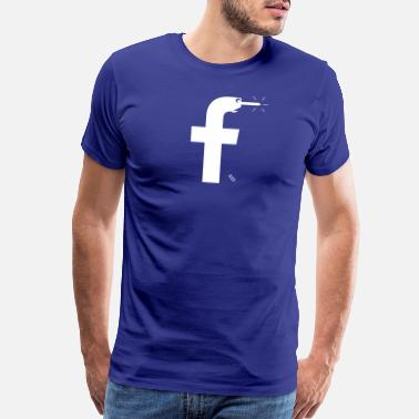 Social Media Facebook Pinocchio - a more honest logo - Men's Premium T-Shirt