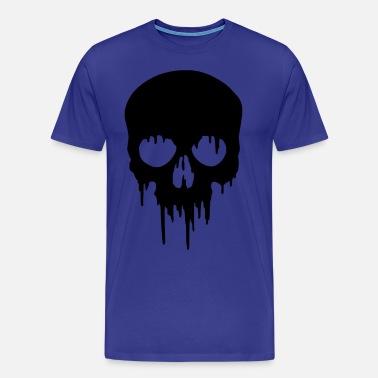 43ccf613 Black Skull dripping Men's T-Shirt | Spreadshirt
