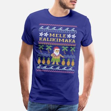 Ugly Christmas Mele Kalikimaka Christmas - Men's Premium T-Shirt