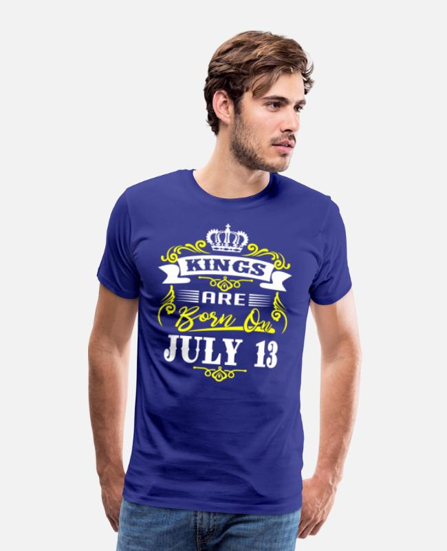 King 13 Queen 13 T-Shirts - Kings Are Born On July 13 - Men's Premium T-Shirt royal blue